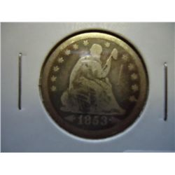 1853 SEATED LIBERTY QUARTER