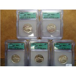 5-1999-D NEW JERSEY QUARTERS ICG MS67