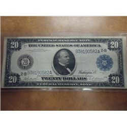 1914 LARGE SIZE $20 FEDERAL RESERVE NOTE