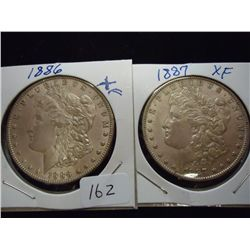 1886 & 87 MORGAN SILVER DOLLARS