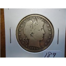 1899 BARBER HALF DOLLAR (VERY GOOD)