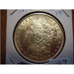 1878 REV. OF 79 MORGAN SILVER DOLLAR (UNC)