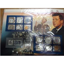 1963-P/D US SILVER MINT AND STAMP SET