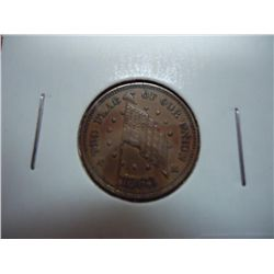 "1863 CIVIL WAR TOKEN ""THE FLAG OF OUR NATION"""