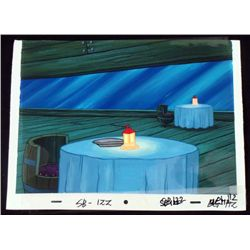 Spongebob Orig Production Cel & Background Krab Lantern