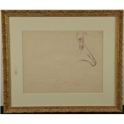 Reluctant Dragon Original Drawing Animation Art Framed