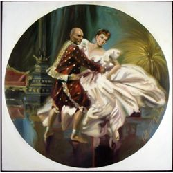 William Chambers Original Painting Art The King and I