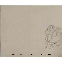 Disney Snow White 7 Dwarfs Original Production Drawing
