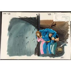 Signed Cel Background Animation Stan Lee Original X-Men