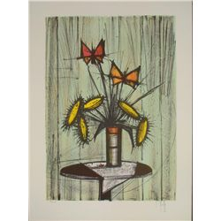 V. Beffa Signed Art Print -Flowers in Vase