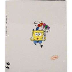 Cel Spongebob Don't Look Back Animation Original Art