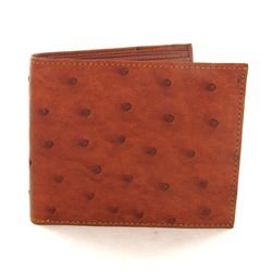 Mens Ostrich Hide Skin Wallet (ACT-355)