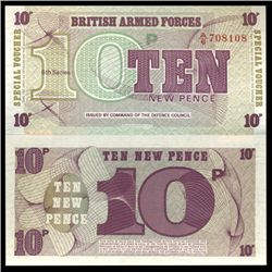 1972 10 Pence Military Note Crisp Uncirculated (CUR-06073)
