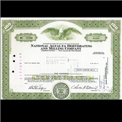 1970s National Alfalfa Stock Certificate Scarce (CUR-06405)