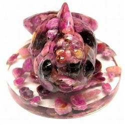 520ct Appealing Pink Sapphire Goldfish Statue (GEM-9744)