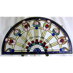 Half Circle Chicago Tiffany Glass Decorative Window Panel