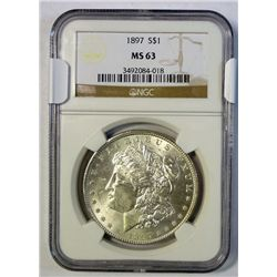 1897 MORGAN DOLLAR NGC MS-63