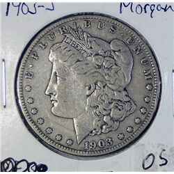 1903-S MORGAN DOLLAR VF-XF NICE COIN