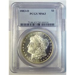 1883O Morgan $  PCGS63 looks under graded a point