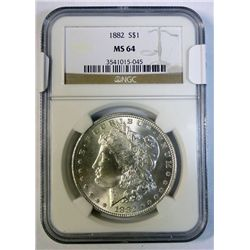 1882 Morgan $  NGC64 scarce this grade GS bid = $110
