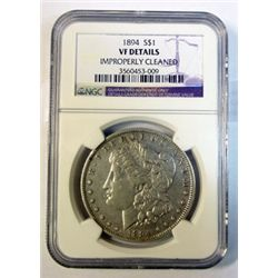1894 Morgan $  NGC VF cleaned