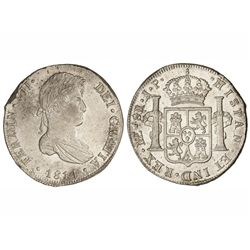8 Reales. - 1814. - LIMA. - J.P. - Brillo original. (Grieta en canto. Cospel algo faltado). Cal-482.