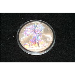 2002 Walking Liberty one dollar, .999 fine, hologram