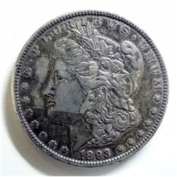 1893 MORGAN DOLLAR XF+
