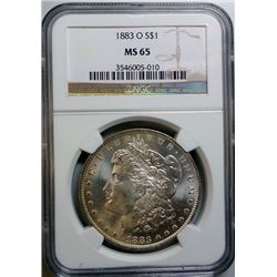 1883-O  Morgan DOLLAR NGC MS-65