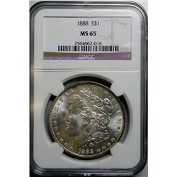 1888 MORGAN DOLLAR NGC MS-65