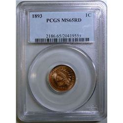 1893 Indian penny  PCGS MS-65 RED