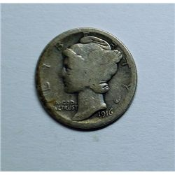 1916-D Mercury dime  good