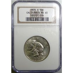 1925-S CALIFORNIA COMMEMORATIVE HALF NGC MS-65