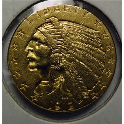 1912 2.50 INDIAN GOLD NICE CH BU+