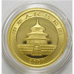 2012 1/10 oz. GOLD CHINESE PANDA