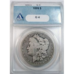 1899 MORGAN DOLLAR ANACS G 4