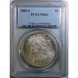 1883-S MORGAN DOLLAR PCGS MS-63