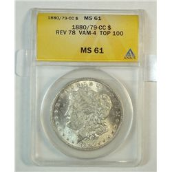 1880/79CC rev 78 Morgan $ANACS61