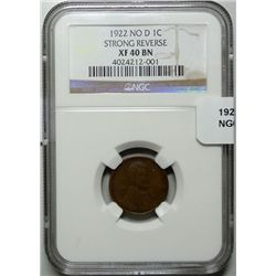 1922  NO  D  Lincoln penny NGC40