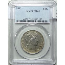 1892 Barber half $  PCGS PR61 holder has scratches not on coin