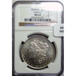 1878 8F   VAM-21 Morgan $  NGC63