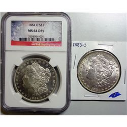1884O   Morgan $  NGC64DPL