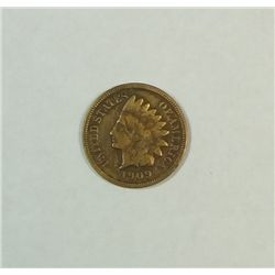 1909S Indian  penny  fine