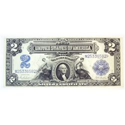 1899  $2  silver certificate  NICE