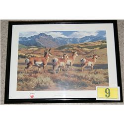 RUGER ADVERTISING POSTER FRAMED  ON THE MOVE   EST $50-$125