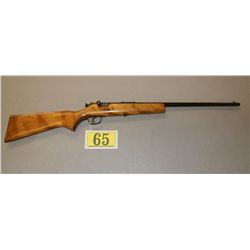 SPRINGFIELD MODEL 15, .22 BOLT ACTION SINGLE SHOT RIFLE; STRAIGHT HARDWOOD STOCK, HEAVY BARREL; EXC