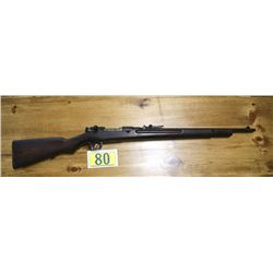 JAPANESE ARASAKA RIFLE BOLT ACTION FULL LENGTH HARDWOOD STOCK WITH PROOF MARKS APPEARS EXCELENT OVER