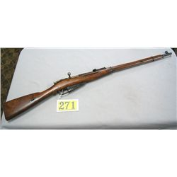 RUSSIAN MILITARY RIFLE PROOFS ON METAL AND TOP OF BARREL; FULL LENGTH HARDWOOD STOCK; 2 BARREL BANDS