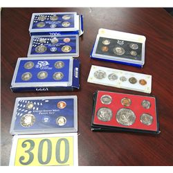 US PROOF SETS: 1964,1972,1973 AND AND 1999 AND 2006 MINT PROOF SETS WITH ALSO STATE QUARTERS; EST $1