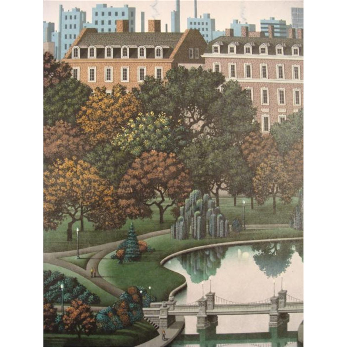 Jim Buckels Boston Public Gardens Signed Ltd Art Print